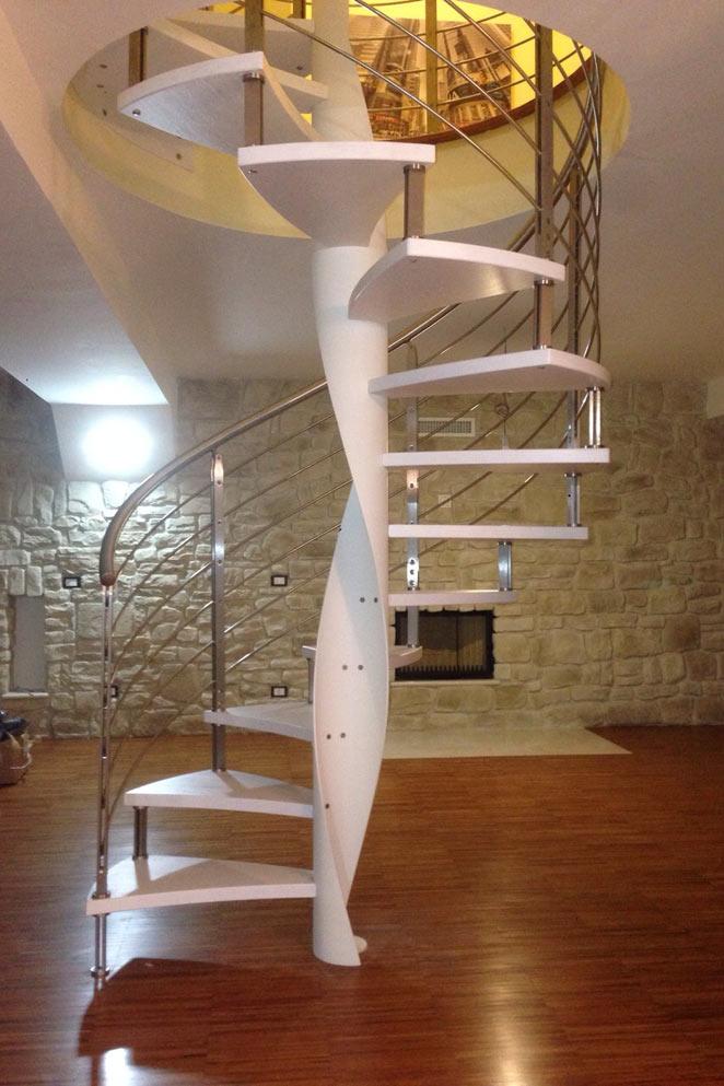 Scale a chiocciola archiscale realizzazione scale su - Gradini per scale a chiocciola ...